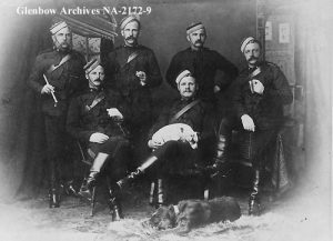 HH Jenkins Veterinary Sergeant NWMP in1895 (second from left top row)